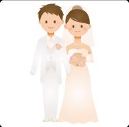 成婚した二人のイラスト