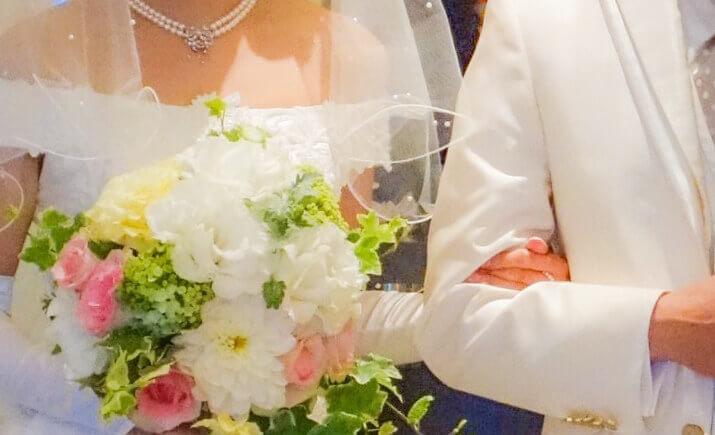 成婚した二人の写真